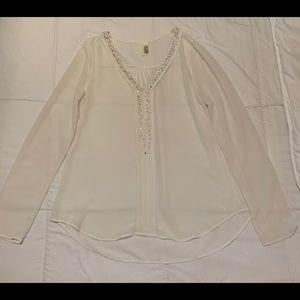 White / off-white beaded top